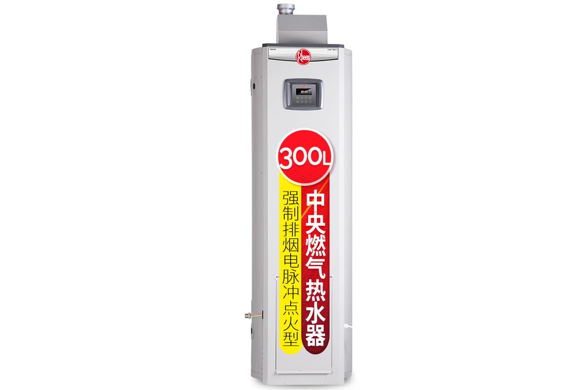强制排烟 全自动运行 中央燃气热水器 300L