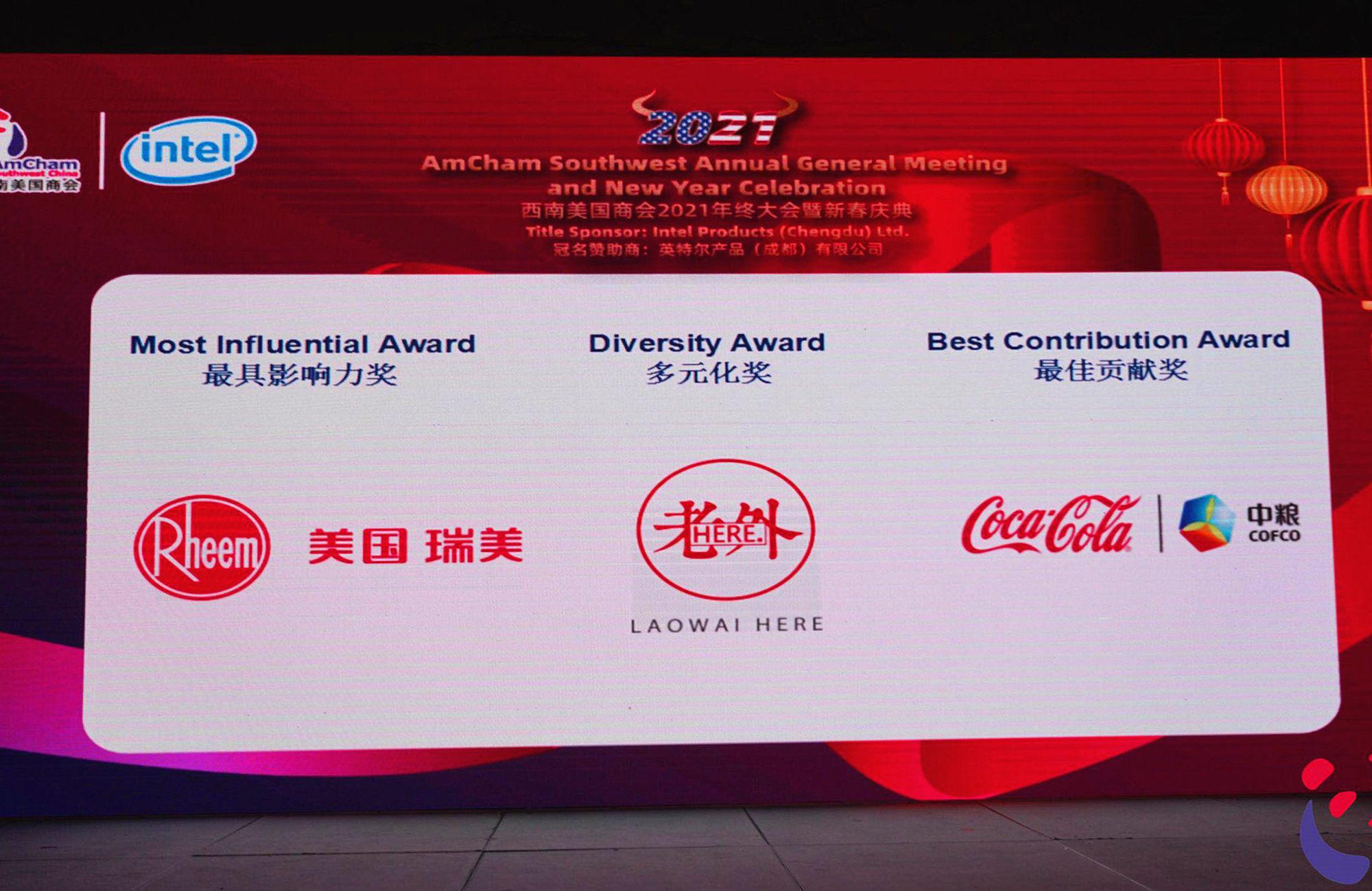 """瑞美获西南美国商会2020年度""""最具影响力奖"""""""